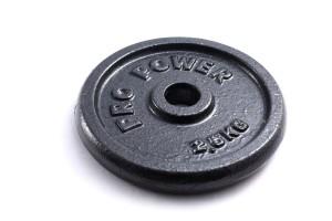 Gewichte beim Muskelaufbautraining